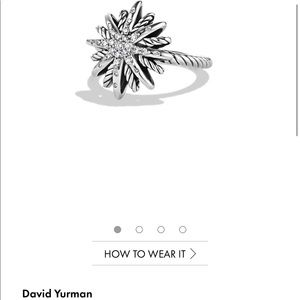 David Yurman Jewelry - David Yurman Starburst Ring with Diamonds